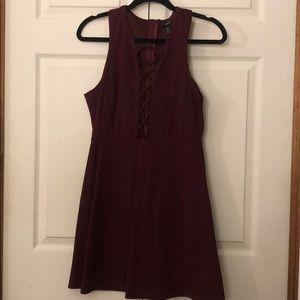 Burgundy midi dress